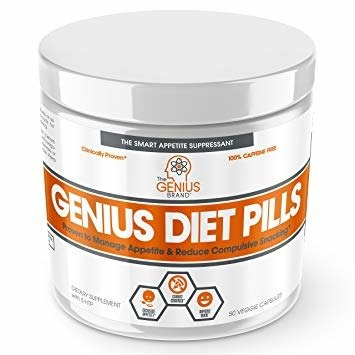 The Genius Brand Genius Diet Pills 50 Caps Satiereal Saffron