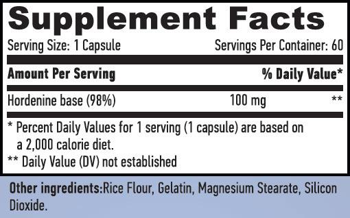 Hordenine 98% 60 caps