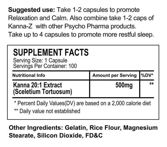 Kanna-Z Anti Stress & Anxiety 100 caps