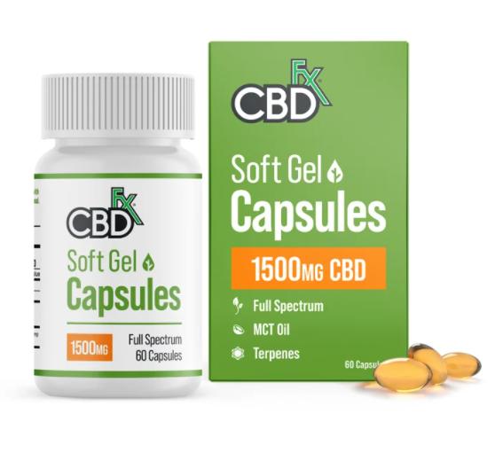 Soft Gel Capsules 1500mg CBD 60 caps