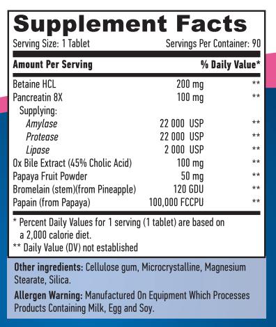 Super Enzyme's 90 caps