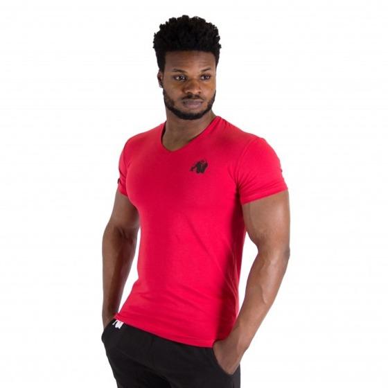 Essential V-neck t-shirt Czerwona
