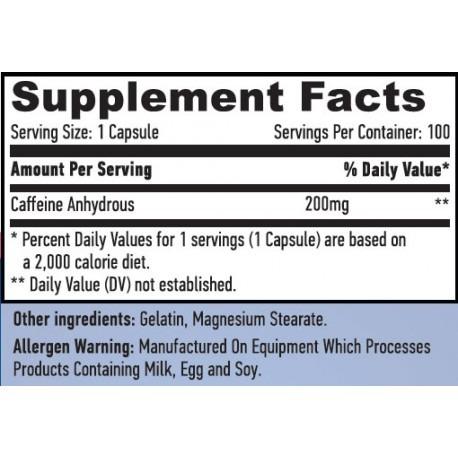 Haya Caffeine 200 mg 100 caps