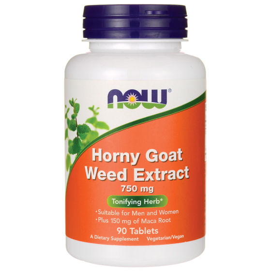 NowFoods Horny goat weed extract 750mg 90 caps