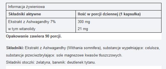 UNS Ashwagandha 7 % extract 90 caps